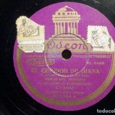 Discos de pizarra: DISCO PIZARRA - ODEON 203.154 - EL CEÑIDOR DE DIANA - LAS CASTAÑAS - TANGO DEL MORENO - MTRO. ALONSO. Lote 194643972