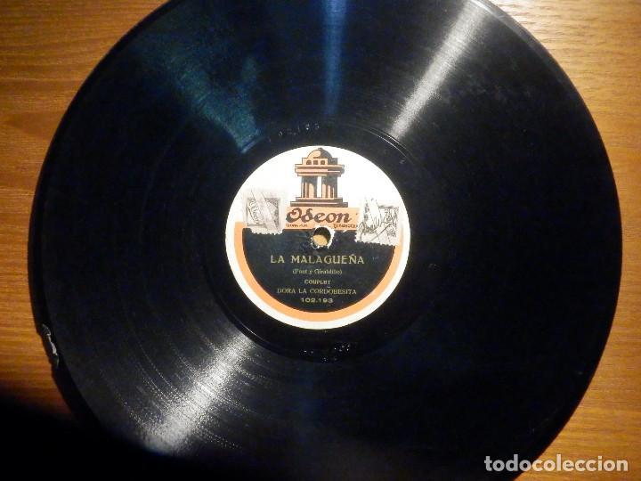 Discos de pizarra: Disco de Pizarra - Odeon 102.193 - Dora La Cordobesita - La Malagueña - Consuelo la Alegria - Foto 4 - 194644782
