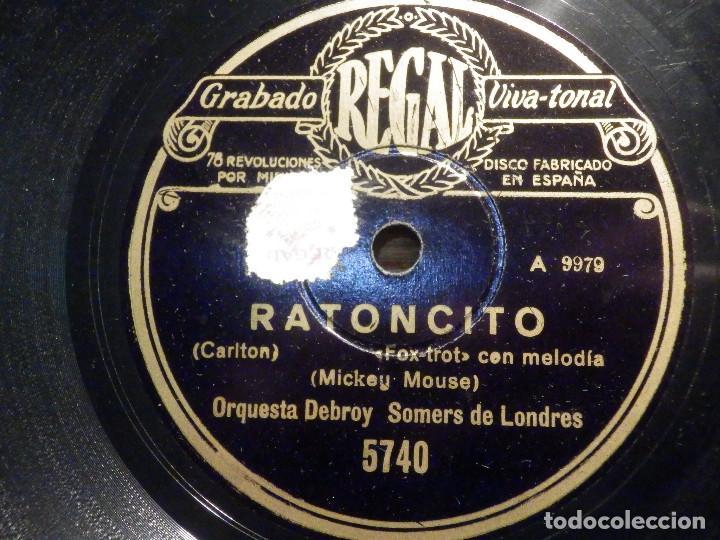 DISCO DE PIZARRA - REGAL 5740 - RATONCITO - MICKEY MOUSE - THE WORLD´S GREATEST SWEETHEART IS YOU - (Música - Discos - Pizarra - Bandas Sonoras y Actores )
