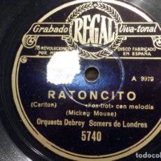Discos de pizarra: DISCO DE PIZARRA - REGAL 5740 - RATONCITO - MICKEY MOUSE - THE WORLD´S GREATEST SWEETHEART IS YOU -. Lote 194644975