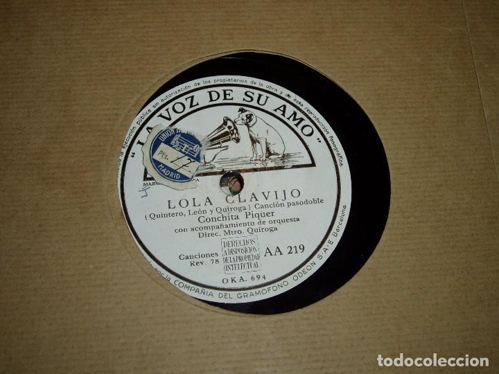 LOLA CLAVIJO Y ROMANCE DE LA OTRA DE CONCHITA PIQUER (Música - Discos - Pizarra - Flamenco, Canción española y Cuplé)