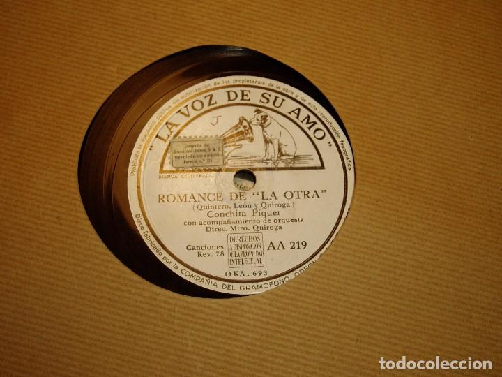 Discos de pizarra: Lola Clavijo y Romance de la otra de Conchita Piquer - Foto 2 - 194740911