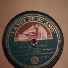 Discos de pizarra: DISCO DE PIZARRA 78RPM-LOS BOCHEROS-ROMERIA VASCA/LA LUNA ENAMORÁ. Lote 194898653