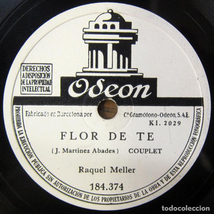RAQUEL MELLER - FLOR DE TÉ / LA VIOLETERA - CUPLE, VIOLETAS IMPERIALES - PIZARRA - (Música - Discos - Pizarra - Flamenco, Canción española y Cuplé)