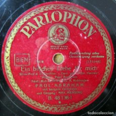 Discos de pizarra: PAUL ABRAHAM - UN POCO DE AMOR / SO KUBT MAN NUR IN WIEN - SLOW FOX. Lote 194962120