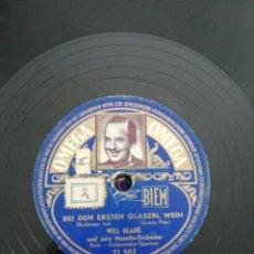 Discos de pizarra: FOTO DISCO DE PIZARRA 78RPM-WILL GLAHÉ-JOSEFINE/BEI DEM ERSTEN GLASERL WEIN. Lote 194992451
