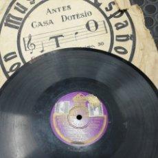 Discos de pizarra: DISCO DE PIZARRA EL PAÍS DE LOS TONTOS. SCHOTIS LA NOVIA MADRILEÑA. PASACALLE. SALVADOR Y CORO.. Lote 195015016