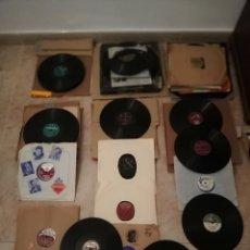 Discos de pizarra: GRAN LOTE 60 DISCOS DE PIZARRA DE 78RPM. Lote 195073821