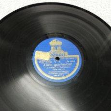 Discos de pizarra: DISCO DE PIZARRA. JUAN D. FILIBERTO. A COLBEN.. Lote 195097563