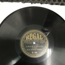 Discos de pizarra: DISCO DE PIZARRA. FOX TROT POR LA ORQUESTA COLUMBIA. AÑORANZAS. LA REINA DE ARAGÓN.. Lote 195291790