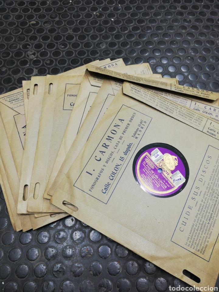 Discos de pizarra: Lote 11 discos de Pizarra. Sellos Odeón, Paelophon, etc - Foto 15 - 195316883