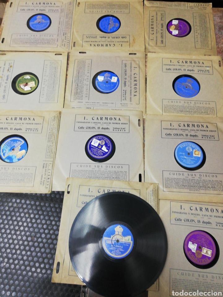 LOTE 11 DISCOS DE PIZARRA. SELLOS ODEÓN, PAELOPHON, ETC (Música - Discos - Pizarra - Otros estilos)