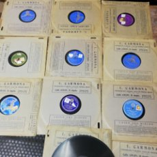 Discos de pizarra: LOTE 11 DISCOS DE PIZARRA. SELLOS ODEÓN, PAELOPHON, ETC. Lote 195316883