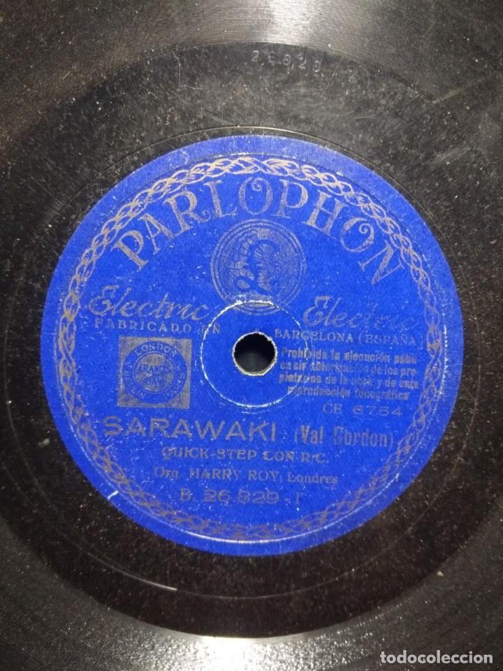 DISCO DE PIZARRA : ORQUESTA HARRY ROY, LONDRES : SARAWAKI (Música - Discos - Pizarra - Otros estilos)