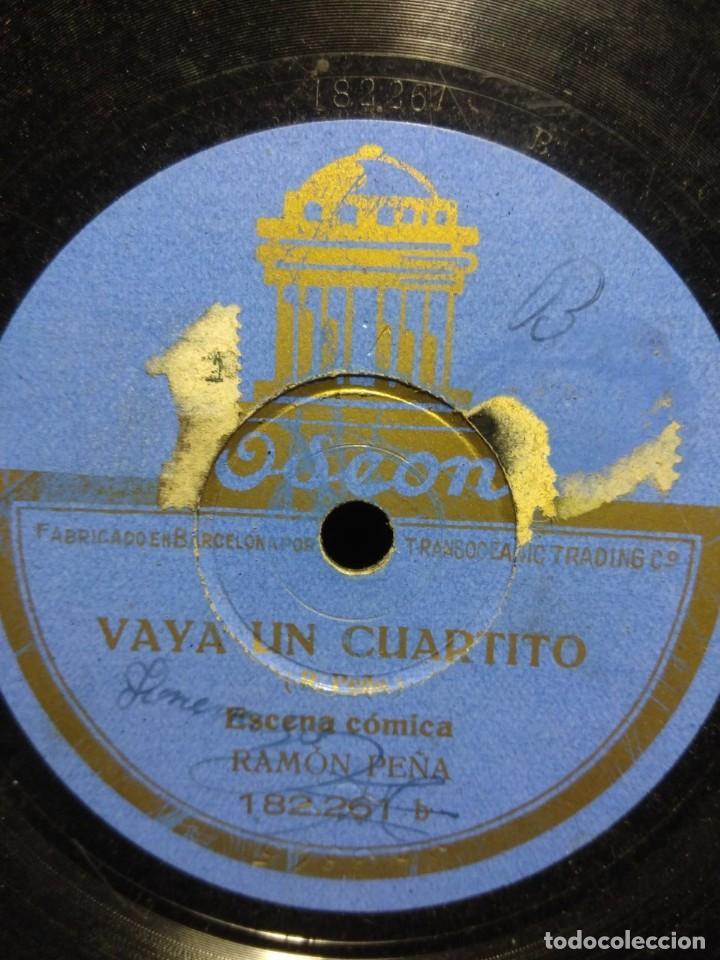 DISCO DE PIZARRA : RAMON PEÑA : VAYA UN CUARTITO ( ESCENA COMICA ) (Música - Discos - Pizarra - Otros estilos)