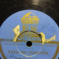 Discos de pizarra: DISCO DE PIZARRA : RAMON PEÑA : VAYA UN CUARTITO ( ESCENA COMICA ). Lote 195323580