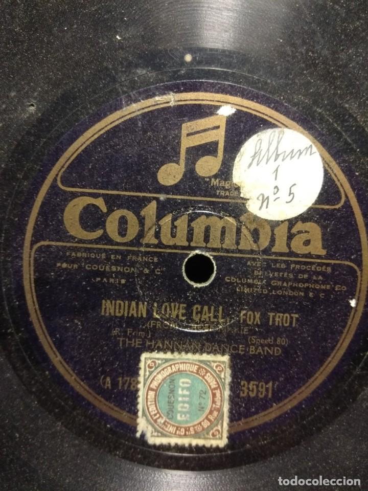 DISCO DE PIZARRA : THE HANNAN DANCE BALL : INDIAN LOVE CALL (Música - Discos - Pizarra - Otros estilos)