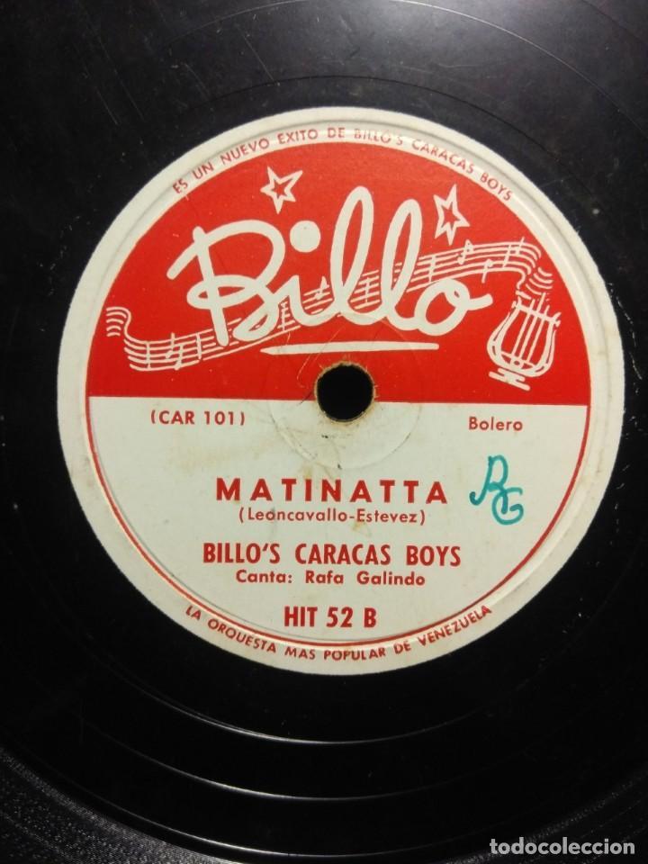 DISCO DE PIZARRA : BILLO´S CARACAS BOYS : MATINATTA (Música - Discos - Pizarra - Otros estilos)