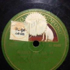 Discos de pizarra: DISCO DE PIZARRA : EL PELUSO : MARIA DE LA O + FANDANGOS . Lote 195326042