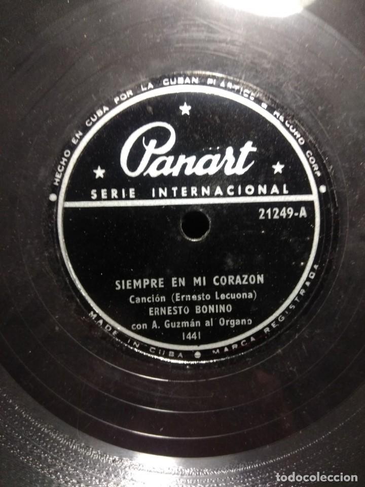 DISCO DE PIZARRA : ERNESTO BONINO CON A. GUZMAN AL ORGANO : SIEMPRE EN MI CORAZON (Música - Discos - Pizarra - Otros estilos)