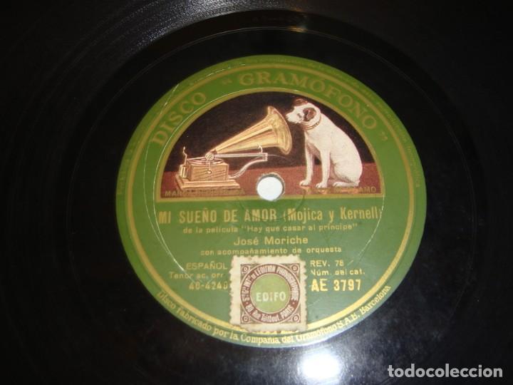 Discos de pizarra: Disco de Pizarra. Regimiento de Amor. B.S. Hay que casar al Principe. - Foto 4 - 195373205