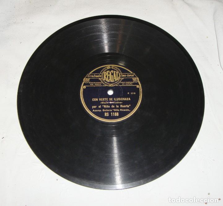 EL NIÑO DE LA HUERTA. CON VERTE SE ILUSIONABA - QUE YO A MI MADRE. GUITARRA NIÑO RICARDO. (Música - Discos - Pizarra - Flamenco, Canción española y Cuplé)