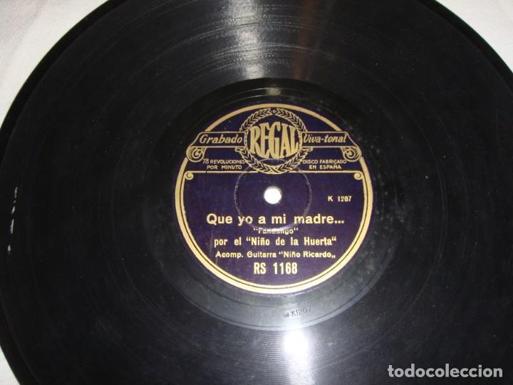 Discos de pizarra: EL NIÑO DE LA HUERTA. CON VERTE SE ILUSIONABA - QUE YO A MI MADRE. GUITARRA NIÑO RICARDO. - Foto 3 - 195375311