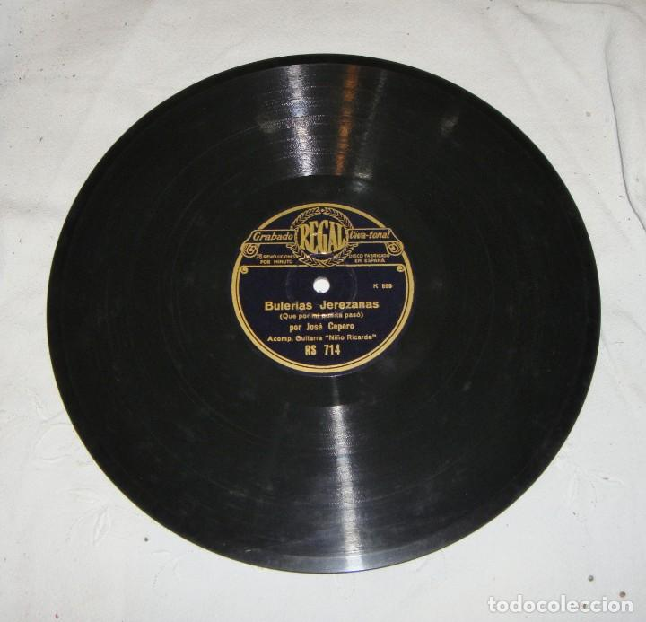 Discos de pizarra: DISCO DE PIZARRA. JOSE CEPERO Y NIÑO RICARDO. SEGUIRIYAS / BULERIAS JEREZANAS - Foto 3 - 195375866