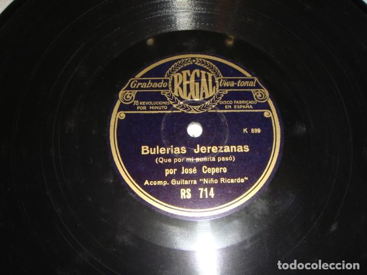 Discos de pizarra: DISCO DE PIZARRA. JOSE CEPERO Y NIÑO RICARDO. SEGUIRIYAS / BULERIAS JEREZANAS - Foto 4 - 195375866