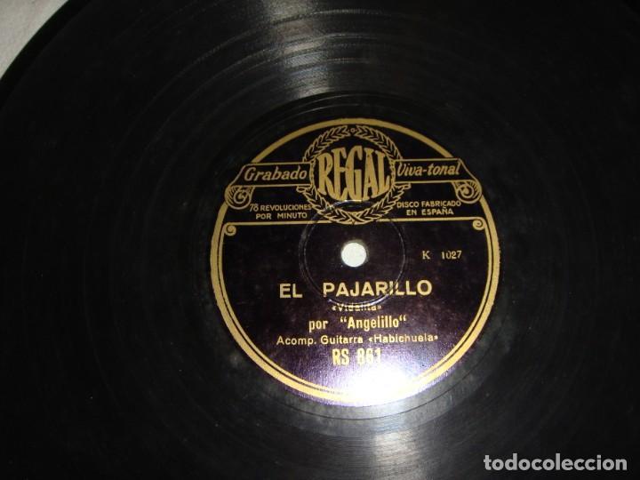 Discos de pizarra: DISCO DE PIZARRA DE ANGELILLO, EN LA GUITARRA (HABICHUELA) - EL PAJARILLO / ANTE UNA CRUZ ME JURO - Foto 2 - 195376678