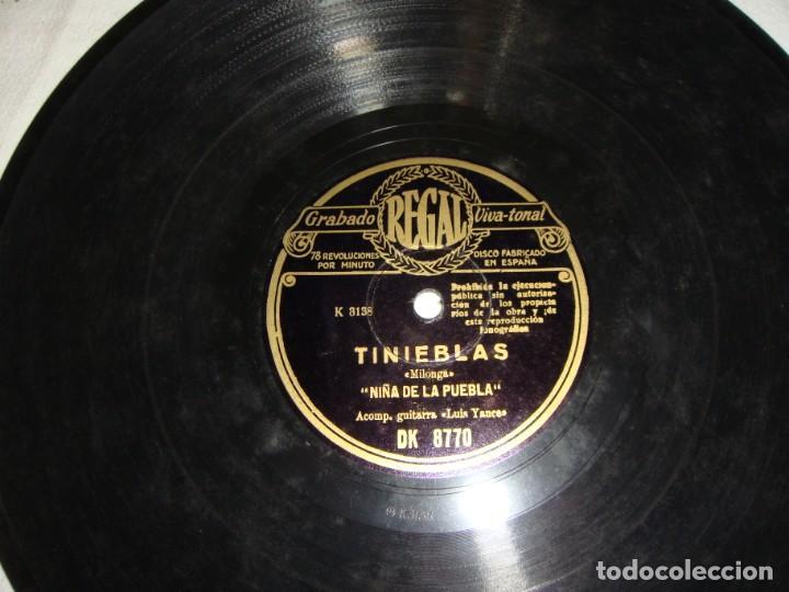 Discos de pizarra: Niña de la Puebla. Tu eres bella Andalucía / Tinieblas. - Foto 4 - 195378507