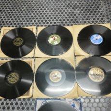 Discos de pizarra: LOTE 7 DISCOS DE PIZARRA. SELLOS DISTINTOS. VICTOR, PARLOPHON, ODEÓN Y VOZ DE SU AMO.. Lote 195434872