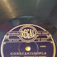 Discos de pizarra: DISCO 78 RPM - REGAL - PAUL WHITEMAN - ORQUESTA - CONSTANTINOPLA - CARLTON - CHARLESTON - PIZARRA. Lote 195469522