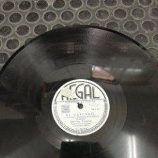 Discos de pizarra: DISCO DE PIZARRA. SELLO REGAL. EL GALLO. BOLERO Y EL CASCABEL. HUAPANGO.. Lote 195470500