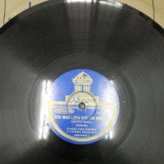 Discos de pizarra: DISCO DE PIZARRA. DE TODO TE OLVIDAS.TANGO. ORQUESTA TIPICA ARGENTINA. SOS MAS LOCA QUE UN BAGUAL.. Lote 195471122