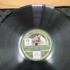 Discos de pizarra: DISCO DE PIZARRA. DISCO GRAMÓFONO. LA VOZ DE SU AMO. ES EL NIÑO DE LA PALMA. TRANVIAS SEVILLANOS.. Lote 195471298