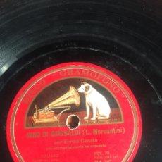 Discos de pizarra: INNO DI GARIBALDI ENRICO CARUSO. Lote 195976296