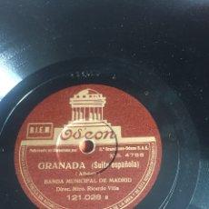 Discos de pizarra: GRANADA. Lote 195977181