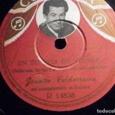 Discos de pizarra: PIZARRA COLUMBIA R 14838 - JUANITO VALDERRAMA - EL EMIGRANTE - EN TU REJA DE TRIANA. Lote 196025312