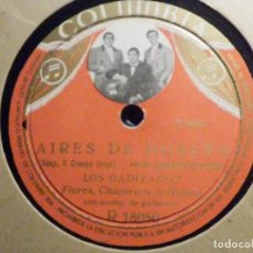 Discos de pizarra: PIZARRA COLUMBIA R 18050 - LOS GADITANOS - AIRES DE HUELVA - QUE BONITA ES MI NIÑA. Lote 196025927
