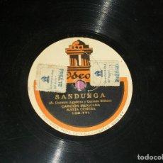 Discos de pizarra: MARIA CONESA. SANDUNGA Y EL SOMBRERO JARANO. CANCIÓN Y TONADILLA MEXICANA . VER FOTOS. Lote 196142276