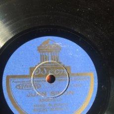 Discos de pizarra: JUAN SIMÓN ANGELILLO. Lote 196193057