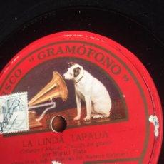 Discos de pizarra: LA LINDA TAPADA MIGUEL FLETA. Lote 196195468
