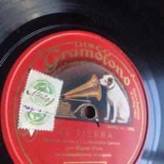 Discos de pizarra: MI TIERRA POR MIGUEL FLETA. Lote 196195958