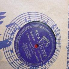 Discos de pizarra: 78 RPM TOÑA LA NEGRA. Lote 196197922