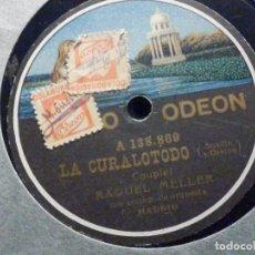 Discos de pizarra: PIZARRA - ODEON 138.867 Y 138.869 - RAQUEL MELLER - LA CURALOTODO - LA BANDERA PASA. Lote 196321445