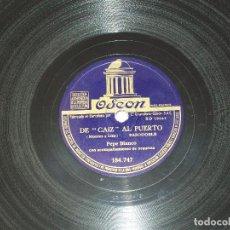 Discos de pizarra: PEPE BLANCO - DE CAIZ AL PUERTO - SE LLAMA ROSA. VER FOTOS. Lote 196341288
