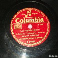 Discos de pizarra: LOLITA GARRIDO, LA TELEVISION / VIAJERA . VER FOTOS. Lote 196342188