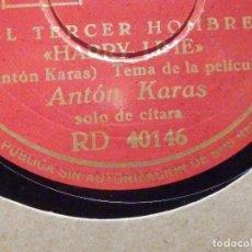Discos de pizarra: PIZARRA DECCA RD 40146 - EL TERCER HOMBRE - HARRY LIME, EL CAFÉ MOZART - ANTON KARAS. Lote 196632921