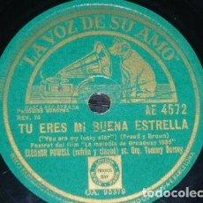 Discos de pizarra: DISCO 78 RPM - VSA - ELEONOR POWELL - TOMMY DORSEY - BROADWAY 1936 - FILM - FOXTROT - RARO - PIZARRA. Lote 196884367